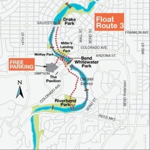 Float the River Route 3 Map