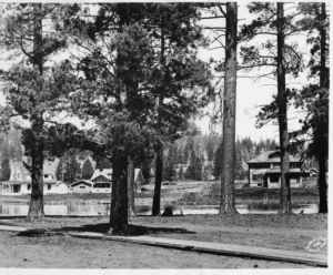 Looking across the river from Drake Park - 1950's