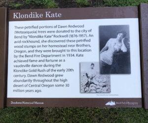 Klondike Kate sign in Drake Park