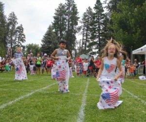 July 4th sack race in Drake Park