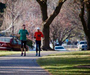 People running in Drake Park