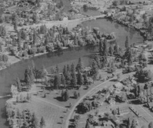 Aerial photo of Drake Park - 1996