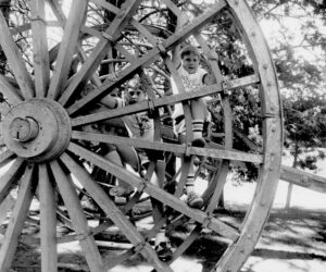 "Boy on the ""Big Wheel"" in Drake Park -1970's"
