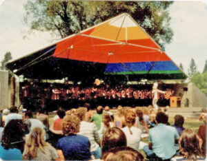 Music on the Drake Park stage - 1983