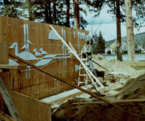 Drake Park stage construction - 1983