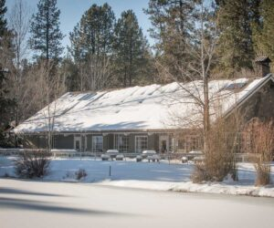 Aspen Hall with snow