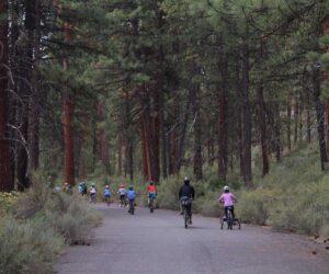 Kids riding bikes in Shevlin Park