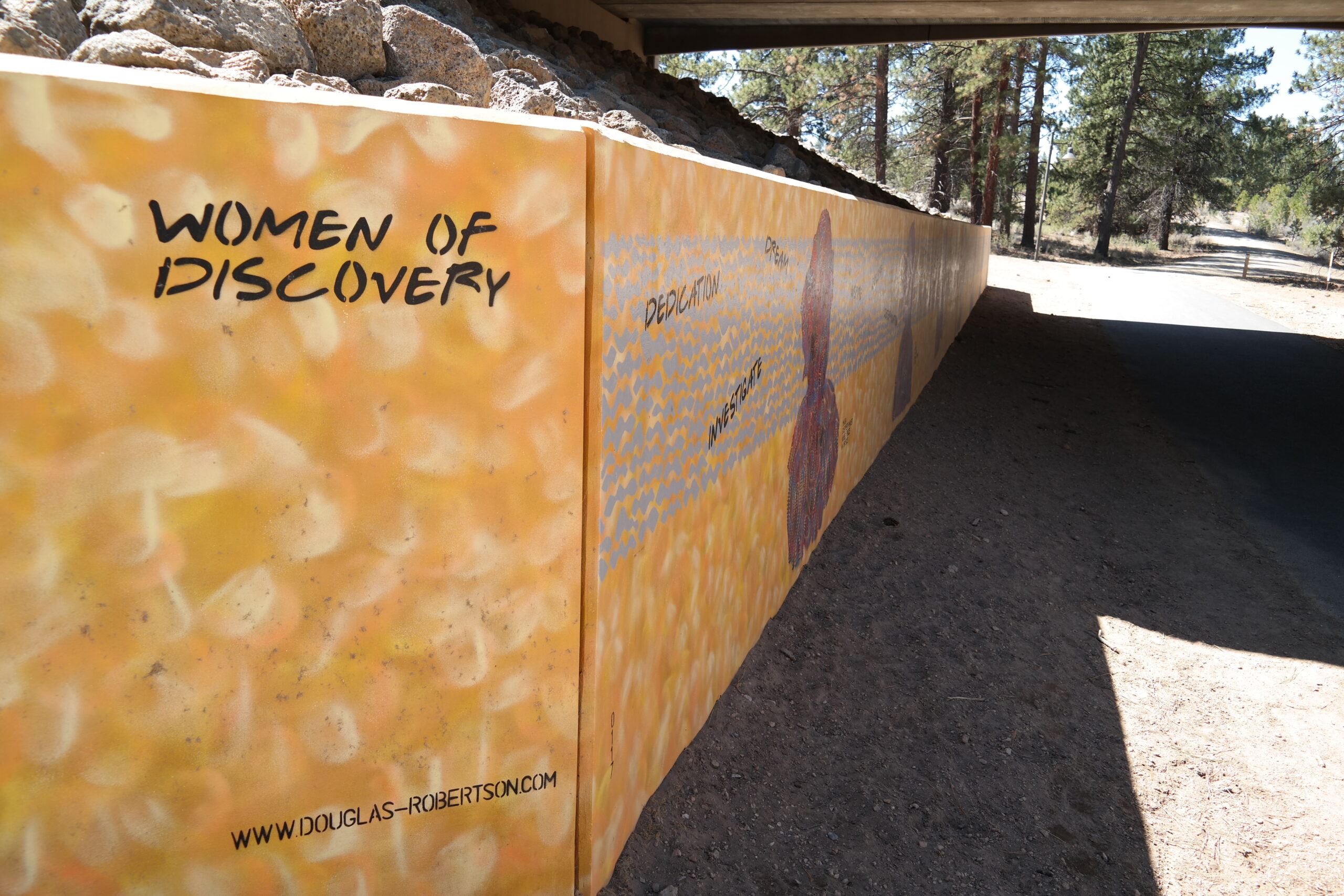 Image of Outback Trail underpass and mural.