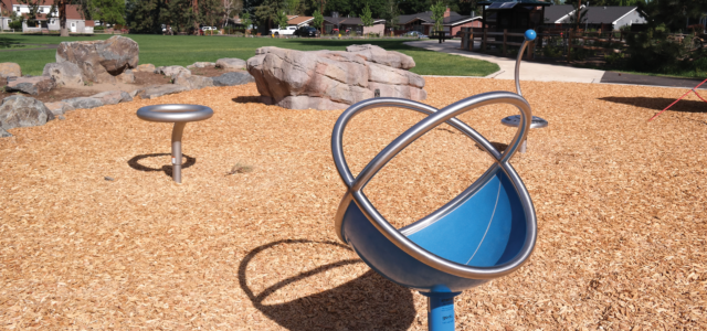 Image of Goodrich Park play features.